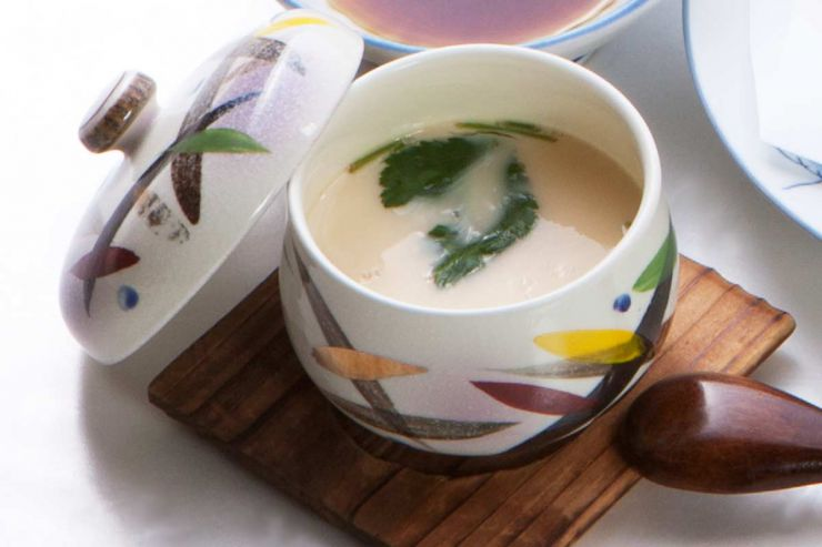 下関市のランチ | ふぐ処 喜多川の鯛のあら焚き御膳 | 茶碗蒸し