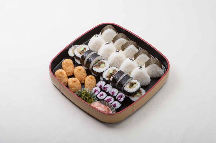 山口県 下関市の法事・法要料理 仕出し 精進寿司盛り合わせ もみじ