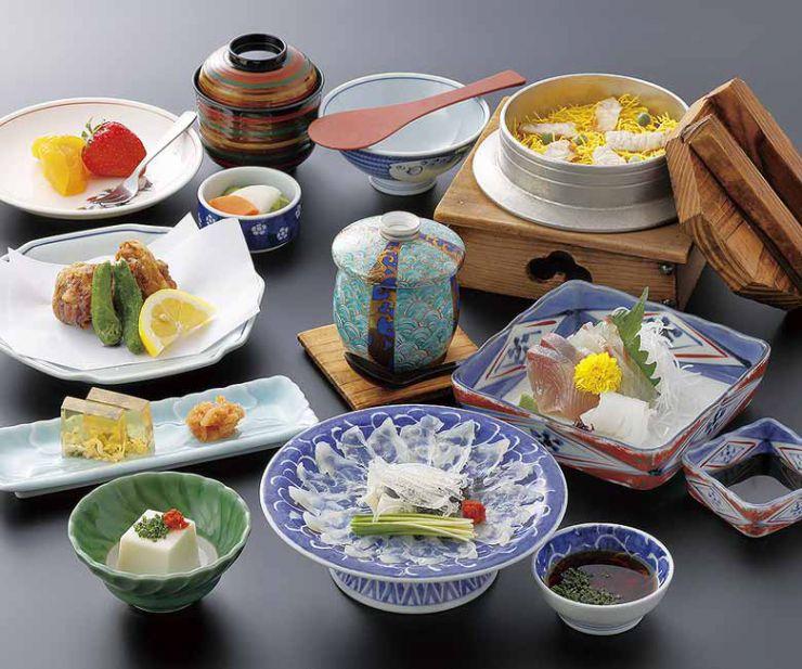 山口県 下関市のふぐの老舗 ふく処 喜多川 ふぐコース料理 ふく凧