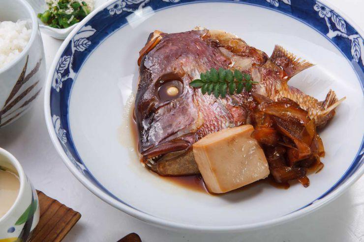 下関市のランチ | ふぐ処 喜多川の鯛のあら焚き御膳 | 鯛のあら焚き