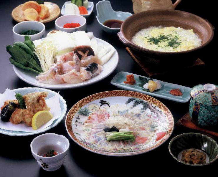 山口県 下関市のふぐの老舗 ふく処 喜多川 ふぐコース料理 南風泊(はえどまり)コース